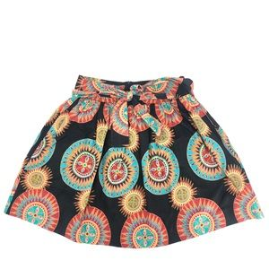 Diyanu Bright African Tribal Skirt Size Medium